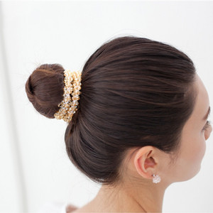 Rhinestone Tie Horsetail Hair Rope High Elasticity Rubber Band Fashion Bright Hairpin Headdress Hot Sale 4 2yy O2