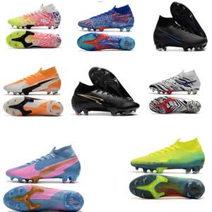 Scarpe Mbappe Rosa morsetti di calcio originale Mercurial Superfly V SX Neymar bambini di calcio di alta della caviglia di Cristiano Ronaldo Womens Scarpe da calcio