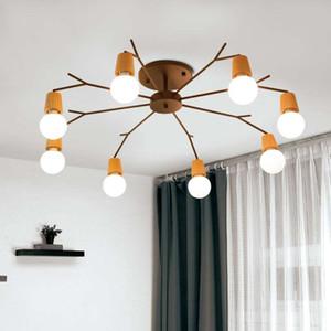 Retro Vintage spider chandelier lighting Bar Coffe Bedroom Kitchen suspension luminaire industrial decor tree branch chandelier