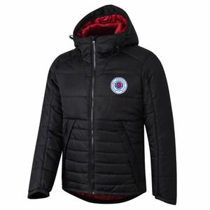 2020 2021 Glasgow Rangers ceket Pamuk ceket WINDBREAKER eşofman fermuar futbol kapüşonlu kış Pamuk Aşağı ceket Spor Coat Koşu Ceketler