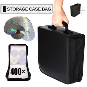Car Disc 400 CDs Storage Bag CD Wallet DVD Large Capacity Travel Box Zipper Space Saving Holder Home Black C0116