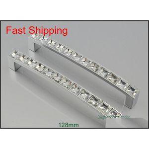 Moderne Kristallmöbelgriffe Chromtürknöpfe Kommoden Schublade Kleiderschrank Küchenschränke Schrank Pul Jlljku Ladyshome