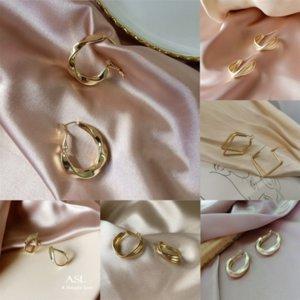 ZIR Moda sólida Sterling Silver Jewelry Real Retro Buds Mini Flowers Opal Sier Pendientes Stud Pendiente Nariz Studs Regalos para