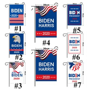2020 The Election Flag 30*45cm Garden Flag 8 Styles Blue White Letters Print Graden Banners Decoration Boutique 2020 President E111103