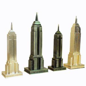 18cm   22cm Modern Home Decor New York Empire State Building Metal Architectural Model Statue Home Decoration Accessories