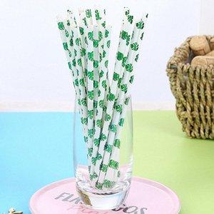 Creativas pajas pajas jugo bar de cócteles bebida de leche de coco cactus diseño de consumición habitual cena del partido f5nL práctica #
