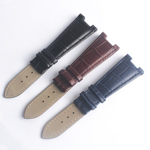 wholesale Genuine Leather Strap Watch Bands 25mm X 14mm Black Blue Brown Fit PPWatch Strap for men