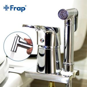 FRAP Bidets new chrome solid brass handheld bidet toilet portable bidet shower set with hot & cold water bidet tap C0127