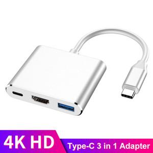 USB C HDMI TIPO C HDMI MAC 3.1 Adaptador conversor HUB USB Tipo C a HDMI / USB 3.0 / Tipo-C Aluminio para Apple MacBook Adapter