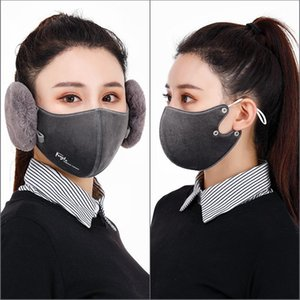 2-in-1, 6-color unisex mask, fashion earmuffs, dustproof mask, winter warm and windproof half face mask GXY014
