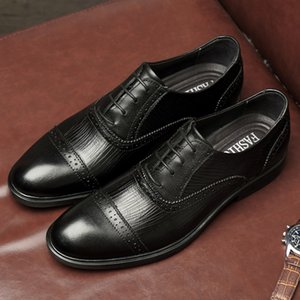 CIMIM Brand Men Business Genuine Leather Retro Formal Shoes New Italy Luxury Dress Shoes Casual Fashion Bullock Office Men