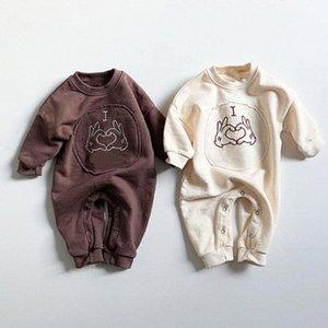 Facejoyous Baby-Kleidung Baby-Langarm-Overall Neugeborene Mädchen-Kleidung-Karikatur-Strampler Outfit Säuglings-Kleidung udvy #