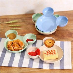 Bambou bébé Arts de la table Enfants Divisé Bowl GRADE ECO enfants Assiette bébé Alimentation Vaisselle Plats Eating CMKU #