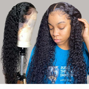 Water Wave 30 Inch Short Curly Lace Front Human Hair Wigs For Black Women 4x4 Closure Long Deep Frontal Brazilian Wig Full