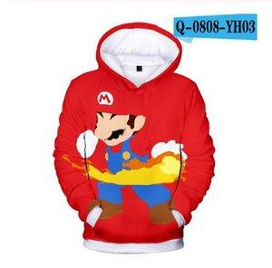 2020 Autumn new style 3d Hoodies Cartoon Super Mario 3D print Hoodie Sweatshirt funny casual Pullover Jacket Coat Tops