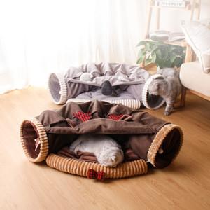 Tierbedarf Katzenspielzeug Brown Deer Weihnachten Cat House Komfortable Shell-Haus mit vier Jahreszeiten verfügbar Warm