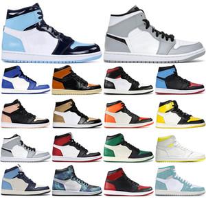 С бесплатными носками 2021 1s мужская баскетбольная обувь 1 разбитый бэкбродский мокко нежный светлый дым серый Shdaow открытый спортивный кроссовки 36-46