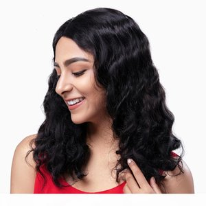 Body Wave Lace Front Human Hair Wigs Brazilian Remy Hair Mid-length Wigs Pre-Plucked Lace Closure 13X4 Frontal Wigs
