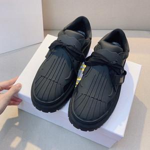 New Paris Brand D Pianter piattaforma scarpe Lusurys Designer Scarpe Scarpe Casual Gomma A Gomma Stivali in pelle Retro Sneakers Donne Sheakers Flat Shell Toe Trainer