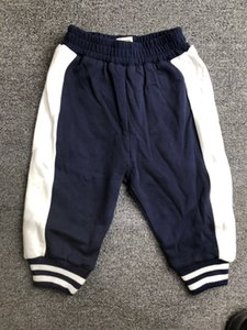 BOBU children's trousers winter baby pants 95% cotton plus velvet casual pants striped jogging pants