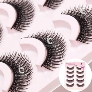 거짓 속눈썹 3D 밍크 머리카락 5 쌍 메이크업 눈 속눈썹 자연 덤불 십자가 블랙