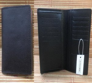 Carteira do clipe de terno A maneira mais elegante de carregar em torno de dinheiro, cartões e moedas famosas design de bolsa de couro homens bolsa 62665