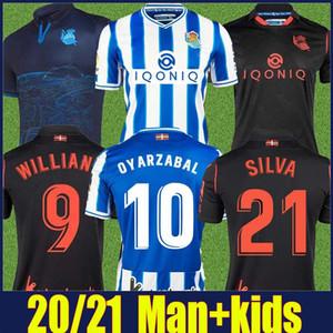 Camiseta de Real Sociedad 2020 2021 Portu Oyarzabal Silva Football Jersey Real Sociedad Kids Jersey Isak Zubeldia Merino Soccer Jersey 20/21