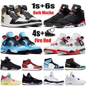 راستا جديد Jumpman أحذية كرة السلة 1 1S دخان رمادي فاتح UNC 4 فون 4S 5 5S العنب بديل 6 6S DMP الرجال النساء أحذية رياضية