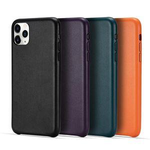 Cuoio di alta classe solido Prova di colore Shock di caso per Iphone SE2020 11Pro MAX Samsung S20 Huawei P40 coperchio superiore