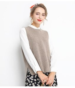 sweater vest women vintage spring autumn winter jumper female woman o neck knitted pullover 2021 new women clothing