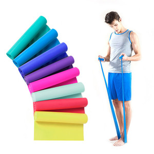 Fitness Supplies 1pc 1 .5m Elastic Yoga Pilates Rubber Stretch Resistance Exercises Fitness Band Resistance Bands Expanders