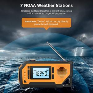 Гуанчжоу Juropin для Динамо Emergency погоды Портативный AM / FM радио с NOAA Solar Super Bright Фонарик
