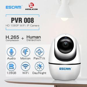 Cameras Humanoid Tracking ESCAM PVR008 Security WiFi Telecamera 2MP 1080P Wireless PTZ Rilevamento del movimento P2P Mini IP1