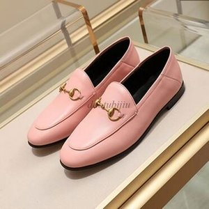 Women Designer shoes Fur Mules Slipper Loafers Shoes 100% Animals Real Leather Princetown Metal Chain Leather Slippers Ee2