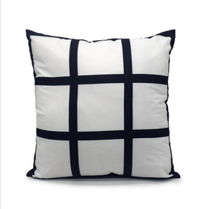 Funda de almohada de transferencia de sublimación 9 Panel de impresión de calor Cubiertas de almohadas de cojín de bricolaje Sofá Sofá SofáCatesas para niños Fahrenheit Pillow DHC3362