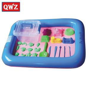 QWZ 26 stücke Dynamik Erstaunliche No-Chaos Indoor Magic Play Sand Kinder Spielzeug Mars Weltraum Aufblasbare Sandablett Zubehör Multifunktionsfunktion 201226