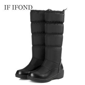Scarpe SE IFOND Stivali Donne di inverno Donne Snow Boots elegante punta rotonda peluche Scaldare metà polpaccio della donna di colore Plus Size 44 mujer