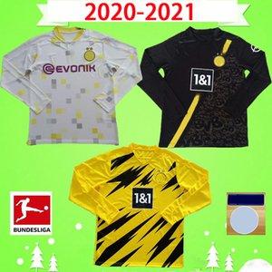 طويلة الأكمام 20 21 هالاند أخطار كرة القدم جيرسي المنزل بعيدا 2020 2021 CAN WOLF BURNIC قميص كرة القدم كامل REUS هاملز SANCHO BRANDT مايوه