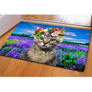 carpet 3D cute animal cat pattern carpet Welcome entrance living room kitchen bedroom outdoor Doormat new style factory wholesale
