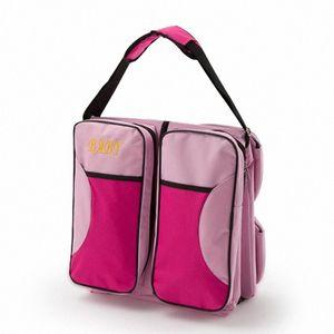 Multifuncional plegable portátil cuna cama grande Capacidad momia bolsa materna e infantil Paquete de viaje 2 en 1 paquete pMex #