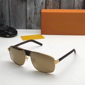 Küresel serbest lojistik 2338 son deri tasarım klasiği moda stil sac erkekler ve kadınlar üst seviye en kaliteli UV400 güneş gözlüğü