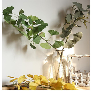 1PC 75cm Silk Artificial Ginkgo Leaf Simulation Eucalyptus Leaves Home Wedding Christmas Decoration Green Plant Fake Flowers