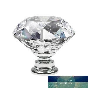 10pcs Diamond Shape Design Cristal Glass Boutons de tiroir Porte-armoire Tireuse Poignées