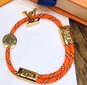 Handgemachte Nylonseil mit Gold oder Schwarz Blau Designer-Haken-Armband-Charme-Titanedelstahl-Farben-Seil-Schmuck-Tropfen-Verschiffen