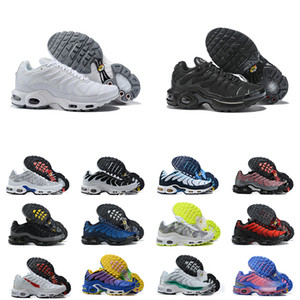 Tn Plus Running Shoes Mens Tn più le scarpe in tutto il mondo Triple Black White Blue Rainbow Sneakers Maschio all'aperto Formatori Size 40-46 Esecuzione