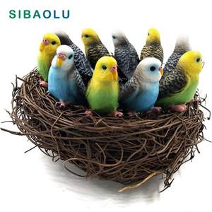 10 adet / grup Simülasyon Mini Sevimli Papağan Kuş Heykelcik Hayvan Modeli Ev Dekor Minyatür Peri Bahçe Dekorasyon Aksesuarları Şekil 201125