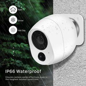 1080P WiFi Camera 3000mAh Battery Powered 2.0MP HD extérieure Caméra IP de surveillance de sécurité sans fil PIR alarme Weatherproof