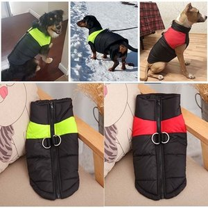 Autumn Winter Warm Waistcoat Vests Coats with Leashes Rings Pet Dog Clothes Drop Ship 360051