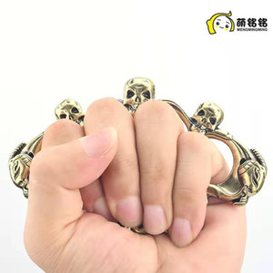 Fiberglass alloy finger tiger four-finger self-defense weapon Four-finger fist clasp iron four-finger hand support self-defense equipment 02