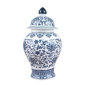 Jingdezhen antique porcelain blue and white general tank cans tea jar storage tanks LJ201209
